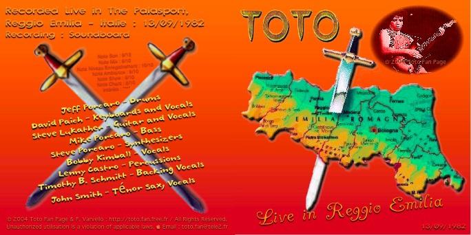 Bootlegs Toto 1982 : Live in Reggio Emilia